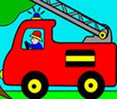 İtfaiye Arabası Boyama oyunu oyna