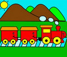 Train Coloring Game